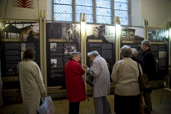 The exhibition launch at The Michaelhouse Cafe, Cambridge