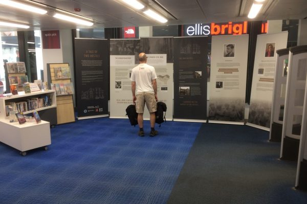 Visitor to the Exhibition at Cambridge Central Library